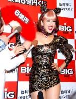 都内で行われた最高6億円くじ『BIG』発表会に出席した岡本夏生 (C)ORICON DD inc.