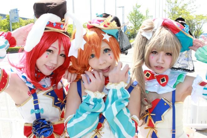 【ニコニコ超会議2016】コスプレイヤー (左から)あね娘さん @aneco16、らむさん @ribon109、なっつさん @nakkis64