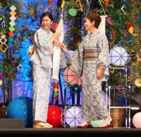 『インサイド・ヘッド』七夕イベントに出席した(左から)竹内結子、大竹しのぶ(C)ORICON NewS inc.