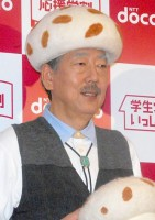 "NTTドコモの新CM""ドコモ田家""ファミリーに出演する岸部一徳 (C)ORICON DD inc."