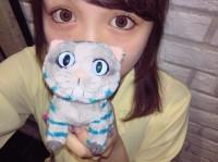 チェシャ猫と自撮りしたSAKURA