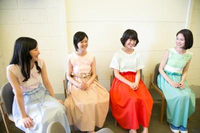 (左から)阿蘇小百合、佐倉星、三村ことみ、福田メイコ