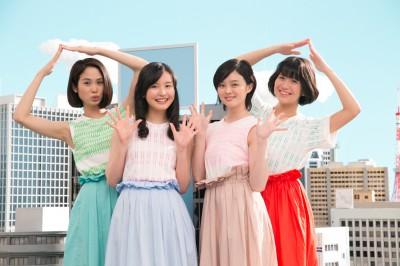 (左から)福田メイコ、阿蘇小百合、佐倉星、三村ことみ