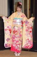 神田明神で成人式記念撮影会を行ったAKB48の川栄李奈 (C)ORICON NewS inc.