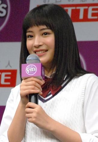 南乃彩希との共演を喜んだ広瀬すず=ロッテ『Fit's』新CM発表会(C)ORICON NewS inc.