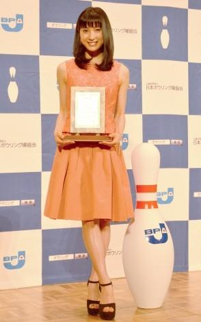 第22回『ボウリングマスメディア大賞』を受賞した土屋太鳳 (C)ORICON NewS inc.