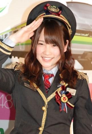 『AKB48チーム神奈川×JR横浜線新型車両導入キャンペーン』発表会に出席した川栄李奈 (C)ORICON NewS inc.
