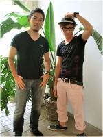 「やりすぎフェスタ2009」をPRするオリエンタルラジオの(左から)中田敦彦、藤森慎吾