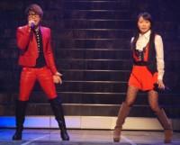 『第64回NHK紅白歌合戦』でコラボレーションした(左から)T.M.Revolutionの西川貴教、水樹奈々