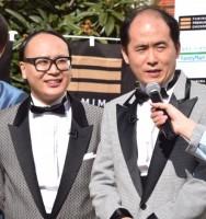 M-1グランプリ2015 優勝記念「ファミマプレミアムチキン 1000本贈呈式」』に出席した