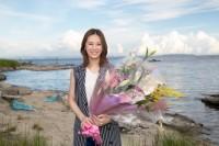 『家売るオンナ』クランクアップで笑顔を見せた北川景子(C)日本テレビ