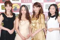 ミュージカル『ミス・サイゴン』の製作発表会見に出席した(左から)笹本玲奈、ソニン、知念里奈、新妻聖子  (C)ORICON DD inc.