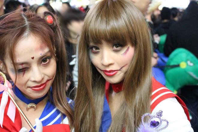 渋谷で見つけた仮装美女(セーラームーン)
