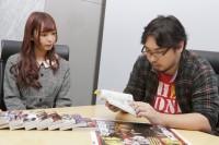 集英社を訪れた漫画好きのmam(左)と『僕のヒーローアカデミア』担当編集者・門司さん