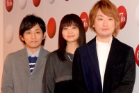 『第67回NHK紅白歌合戦』リハーサル1日目 いきものがかり(左から)水野良樹、吉岡聖恵、山下穂尊