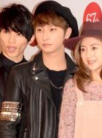 『第67回NHK紅白歌合戦』リハーサル1日目 AAA(左から)日高光啓、伊藤千晃、與真司郎