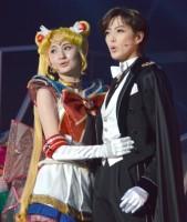 ミュージカル『美少女戦士セーラームーン -Un Nouveau Voyage-』ゲネプロに出演した(左から)大久保聡美、大和悠河 (C)ORICON NewS inc.