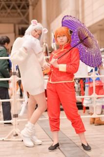 『銀魂』夜兎族の神楽・巨大犬の定春のコスプレ リカもかさん @rikamoka0813