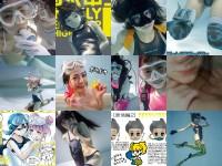 『月刊水中ニーソR』2017年3月号 誌面ランダム集合イメージ