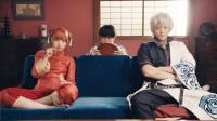映画『銀魂』 左から:神楽(橋本環奈)、志村新八(菅田将暉)、坂田銀時(小栗旬)