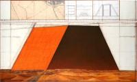 クリスト「マスタバ、アラブ首長国連邦のプロジェクト」2枚組のドローイング(2012年)