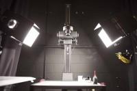 鉛筆書きなどのドローイング全般を撮影する中版カメラ/アニメーション・リサーチ・ライブラリー