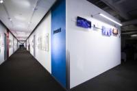 『アナと雪の女王』のアートワークか展示されているスペース。各作品がエリアごとに展示/ウォルト・ディズニー・アニメーション・スタジオ