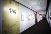 『くまのプーさん』のアートワークか展示されているスペース。各作品がエリアごとに展示/ウォルト・ディズニー・アニメーション・スタジオ
