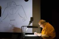 『モアナと伝説の海』のマウイを描く手描きアニメーターのエリック・ゴールドバーグ氏