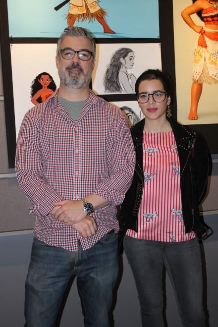 キャラクター・デザインのビル・シュワブ氏(左)とコスチュームデザイナーのネイサ・ボーヴェ氏/アニメーション・リサーチ・ライブラリー
