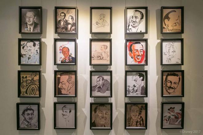 ウォルト・ディズニーのオフィスの前の通路に飾られている肖像画/ウォルト・ディズニー・スタジオ