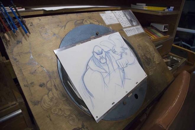 かつてのアニメーターが使用していたボードとアートワーク/アニメーション・リサーチ・ライブラリー