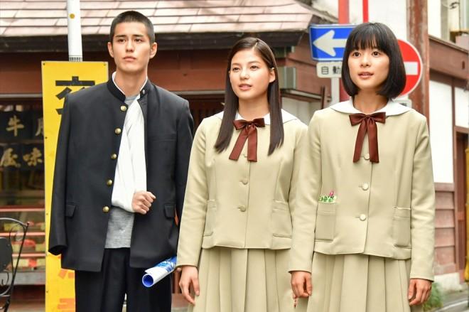 左から:田崎大樹(寛一郎)、仁藤菜月(石井杏奈)、成瀬順(芳根京子)
