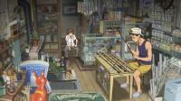 左から島田典道(声:菅田将暉)、典道の父(声:飛田展男)