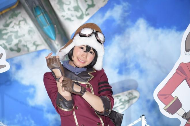 『東京ゲームショウ2018(TGS)』で発見!『荒野のコトブキ飛行隊』主人公キリエのコスプレ 永原芽衣(@meinghr100008)