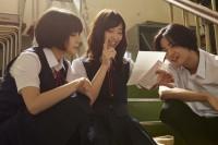 左から:島田響(広瀬すず)、千草恵(森川葵)、川合浩介(竜星涼) 映画『先生!、、、好きになってもいいですか?』