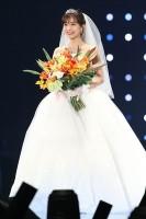 【TGC2018SS】ウエディングドレス姿で登場した田中みな実(撮影:片山よしお)