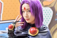 『東京コミコン2017』コスプレイヤー・かげねこさん<br>(『ティーン・タイタンズ』レイヴン)