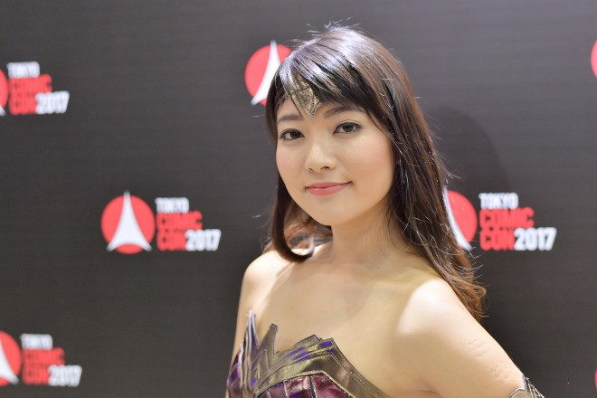 『東京コミコン2017』コスプレイヤー・真田みきさん<br>(ワンダーウーマン)