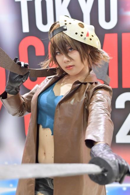 『東京コミコン2017』コスプレイヤー・みやぽよさん<br>(ジェイソン)