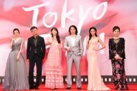 東京国際映画祭に参加した中国映画スタッフ、女優