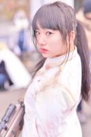『コミケ93』コスプレイヤー・Minnieさん<br>(『PUBG風』)