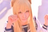 『コミケ93』コスプレイヤー・比之坂律さん<br>(『狐の嫁入り』天気 雨)
