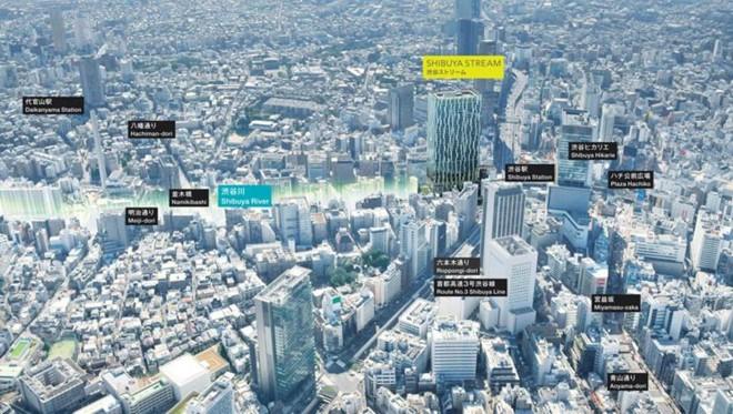 渋谷駅南側エリアに今秋誕生する渋谷ストリーム(C)東京急行電鉄