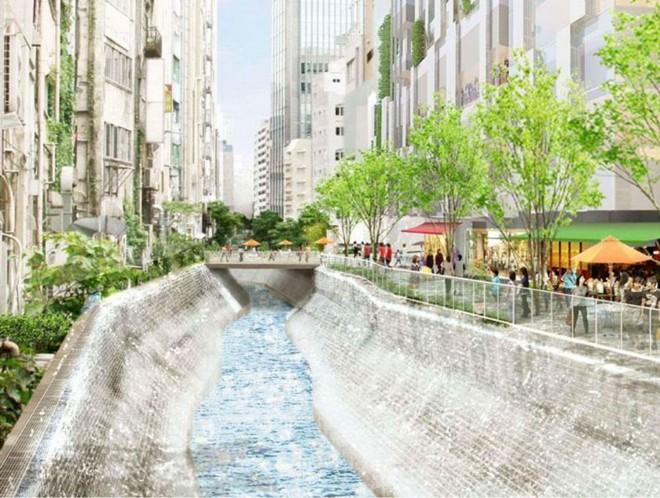 渋谷川の再生イメージ