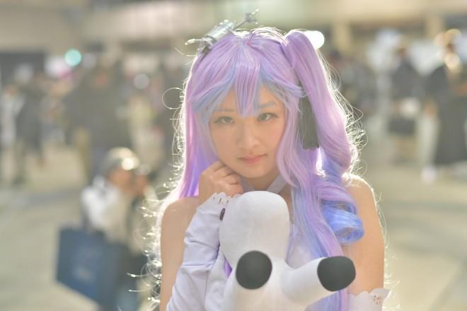 『闘会議2018』コスプレイヤー・あさなこさん<br>(『アズールレーン』ユニコーン)