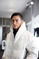 リバースプロジェクト「衣」ジャンルの取り組みのひとつ、廃材のエアバックを再利用したジャケット