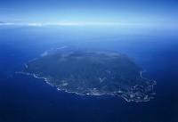 上空から見た伊豆大島