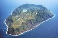 上空からみた青ヶ島