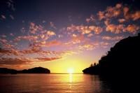 境浦の夕日